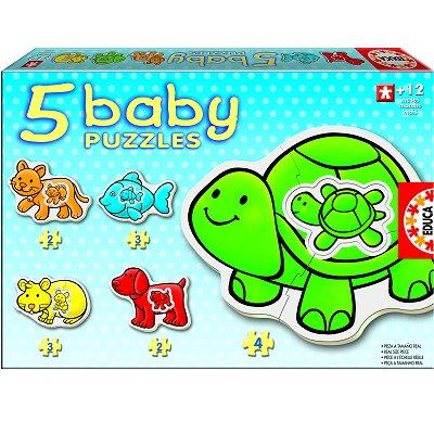 Educa-14864 5x Baby Puzzle Tiere