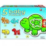 Educa-14864 5 Babypuzzles - Haustiere