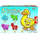 Educa-14865 5 Babypuzzles - Bauernhoftiere