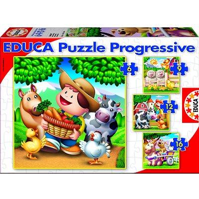 Puzzle Educa-14867 Tiere