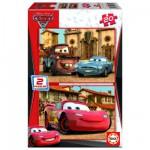 Educa-14938 Puzzle 2 x 20 Teile - Cars 2: Flash McQueen, Martin und Finn McMissile