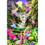 Puzzle  Educa-15515 Feen am Wasserfall