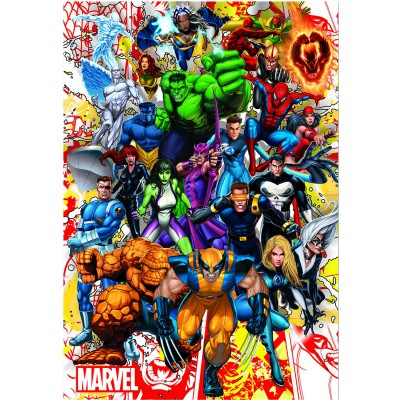 Puzzle Educa-15560 Marvel Helden