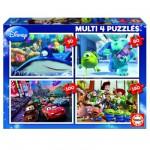 Educa-15615 Puzzle 50 bis 150 Teile: 4 Puzzle: Pixar