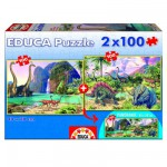 Educa-15620 Puzzleset - Dino World