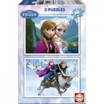 Educa-15768 2 Puzzles - Disney Eiskönigin