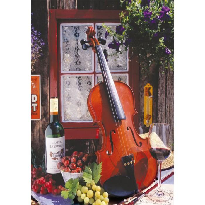 Alberto Rossini - Violin and Still Life with Grapes