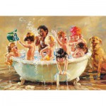 Puzzle  Educa-15798 Corrine Hartley - Bubble Babies