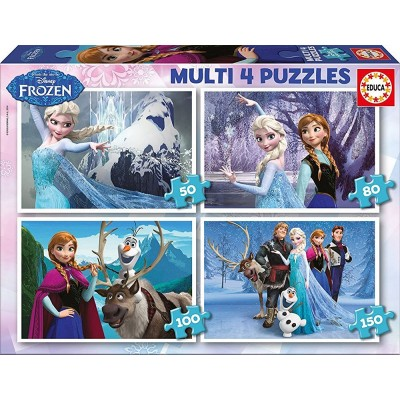 Educa-16173 4 Puzzles - Frozen
