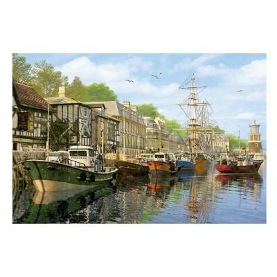 Puzzle Educa-16313 Dominic Davison: Schiffe am Kai