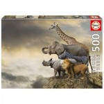 Puzzle  Educa-16737 Animals on the Edge of a Cliff