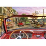 Puzzle  Educa-16768 Dominic Davison: Paris In A Car