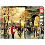 Puzzle  Educa-16778 Triumpfbogen, Paris