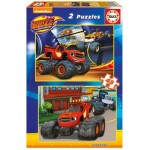 Educa-16821 2 Puzzles - Blaze and The Monster Machines