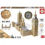 Educa-16971 3D Holzpuzzle - Big Ben & Parliament