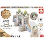 Educa-16999 3D Holzpuzzle - Tower Bridge