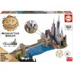Educa-17000 3D Holzpuzzle - Brooklyn Bridge, Manhattan Dream