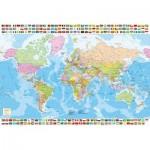 Puzzle  Educa-17117 Politische Weltkarte