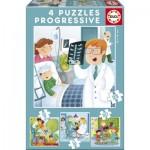 Educa-17146 4 Puzzles - Berufe