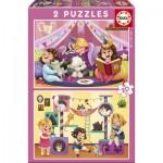 Educa-17148 2 Puzzles - Pijama Party