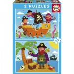 Educa-17149 2 Puzzles - Piraten