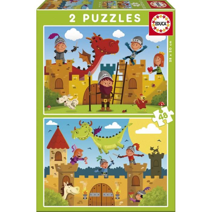 2 Puzzles - Drachen und Ritter