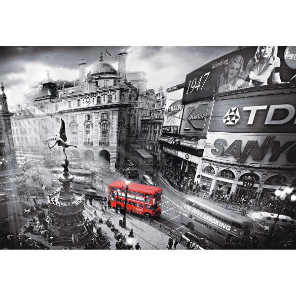 piccadilly circus london 1000 teile querformat puzzle. Black Bedroom Furniture Sets. Home Design Ideas