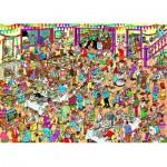Puzzle  Jumbo-01489 Jan Van Haasteren: Eine besondere Geburtstagsfeier