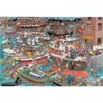 Puzzle  Jumbo-02065 Jan van Haasteren: Verrückter Hafen