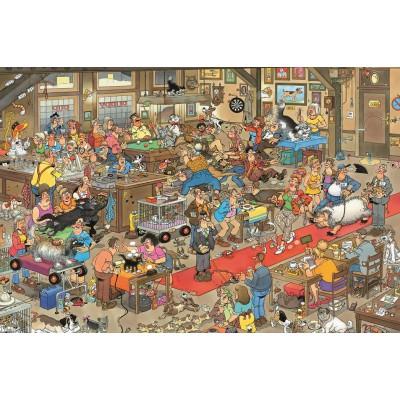 Puzzle Jumbo-13035 Die Hundeschau