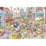 Jumbo-13499 Puzzle 1000 Teile Wasgij Destiny - Chaos in der Geschäftsstrasse