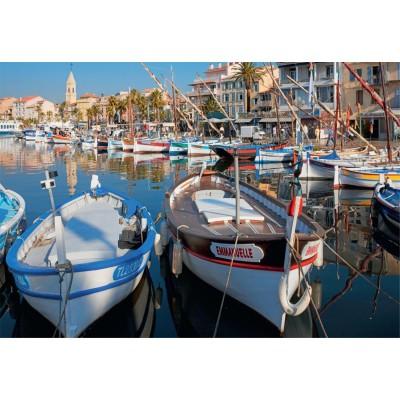 Puzzle Jumbo-17042 Der Hafen von Sanary-sur-Mer, Frankreich
