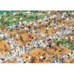 Puzzle  Jumbo-17076 Jan van Haasteren: Der Tennisplatz