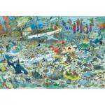 Puzzle  Jumbo-17080 Jan Van Haasteren: Unterwasserwelt