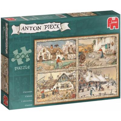 Puzzle Jumbo-17093 Pieck Anton: 4 Jahreszeiten