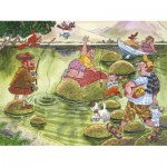 Puzzle  Jumbo-17129 Wasgij Mystery: Panik auf dem See