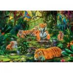 Puzzle  Jumbo-17245 Tigerfamilie