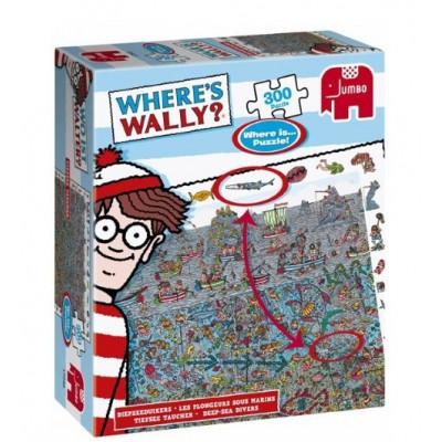 Puzzle Jumbo-17249 Where's Wally? - Tiefseetaucher
