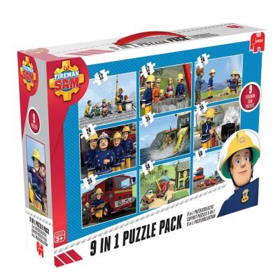 Jumbo-17338 9 puzzles - Feuerwehrmann Sam