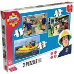 Jumbo-17339 3 puzzles - Feuerwehrmann Sam