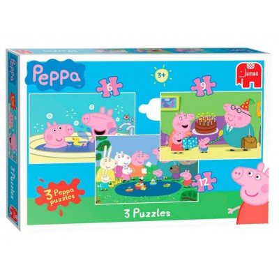 Jumbo-17388 3 Puzzles - Peppa Pig