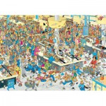 Puzzle  Jumbo-17467 Van Haasteren Jan: Massen an den Kassen!