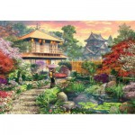 Puzzle  Jumbo-18334 Dominic Davison: Japanischer Garten