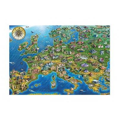 Puzzle Jumbo-18337 Karte von Europa