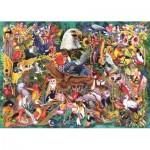 Puzzle  Jumbo-18568 Reich der Tiere