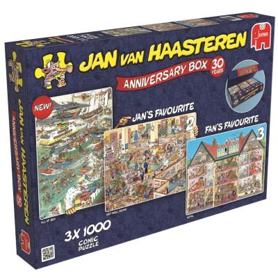 Jumbo-19000 3 Puzzles - Van Haasteren Jan: Anniversary Box 30 Years