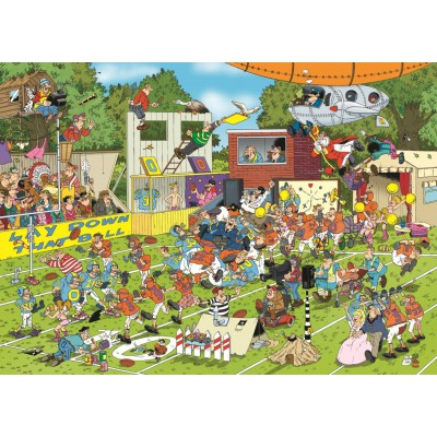 Puzzle Jumbo-19020 Jan Van Haasteren - Chaos auf dem Feld