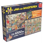 Jumbo-19024 2 Puzzles - Jan Van Haasteren - Weihnachtswerkstatt