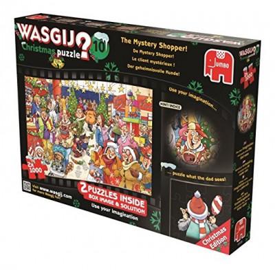Puzzle Jumbo-19105 Wasgij Christmas 10 - Der geheimnisvolle Kunde