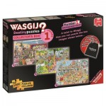 Jumbo-19124 3 Puzzles - Wasgij Destiny - Collector's Box 1